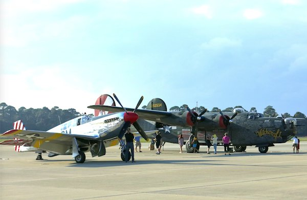 B-24J Liberator and Mustang