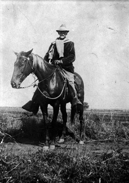James Dent on horseback