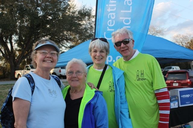 Betsy Morris, Gabriele Royall, Karen and Glenn Dixon