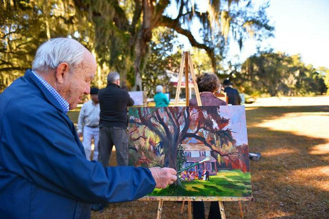 Alberts Plein Air Affair at Hofwyl Plantation