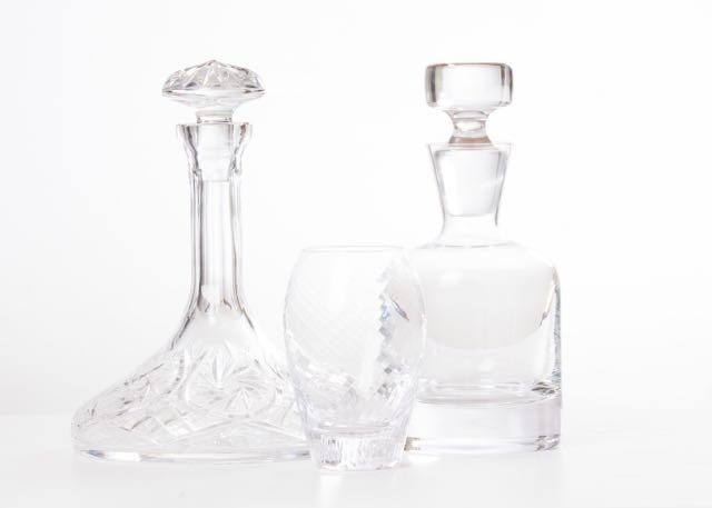 A well-hydrated guest is a happy guest. Vintage carafes from B&B Design and Consign deliver sustenance with style.
