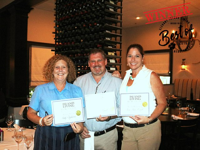Best Bartender - Male - Chris Maxell; Best Bartender - Female - Lara Johns Forsyth; Best Server - Female - Cindy Stephenson
