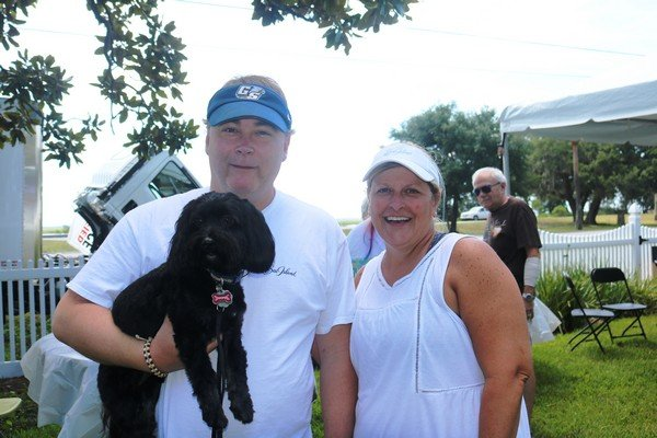Greg and Marilyn Canady with Cooper