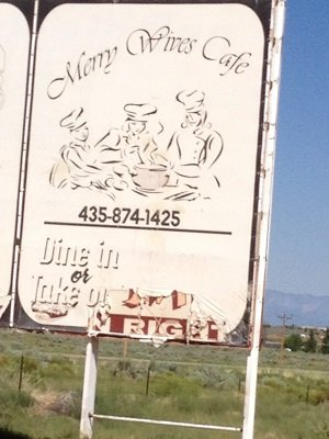 "Subtle humor:  ""Merry Wives Café"" just up the road from a fundamentalist Mormon town"