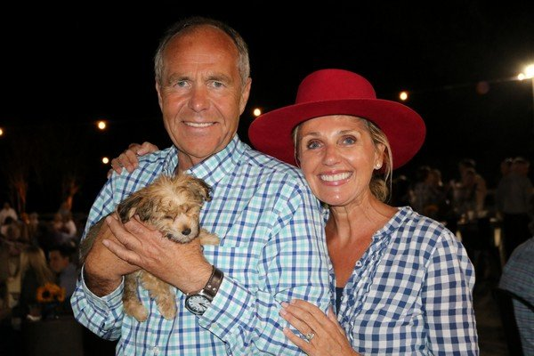 Simon and Pamela Curtis with a furry friend