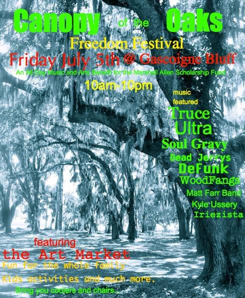 Canopy of Oaks Freedom Festival Poster