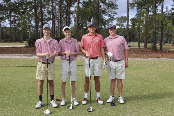 Glynn Academy Golf Team: Davis Reyna, Caleb Weese, Tripp Wickard, Pope Arline