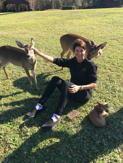 LeAnn (and Taco) with her babies