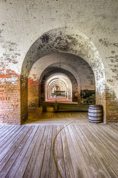Fort Pulaski Walls and Cannon