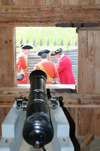 Fort King George Redcoats through the Window