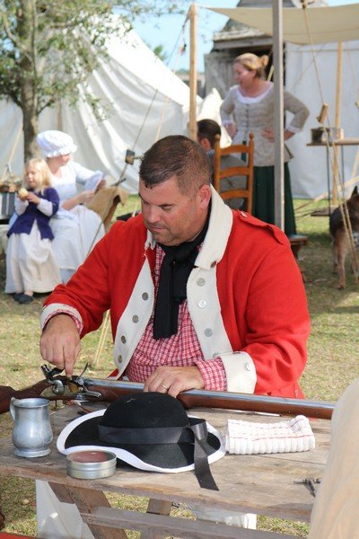Fort King George Musket Cleaning