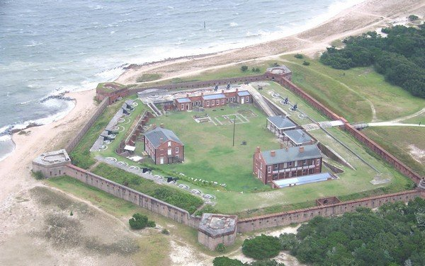 Aerial View of Fort Clinch