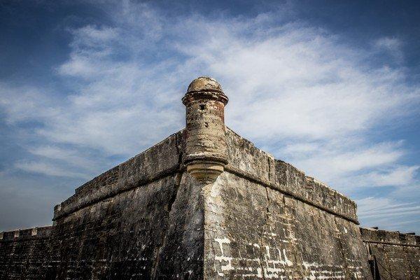 The formidable Castillo de San Marcos