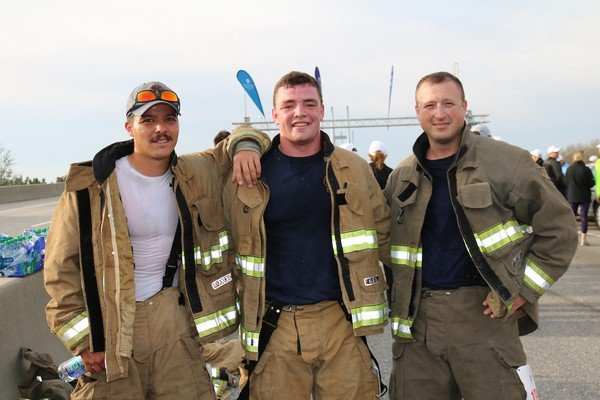 Members of the City of Brunswick Fire Department