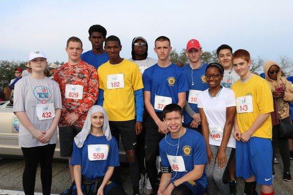 Brunswick High School ROTC members