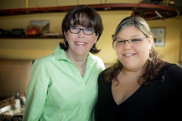 Cathy and Hannah
