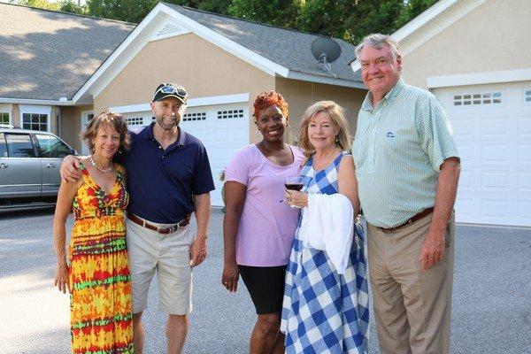 Sue and Steve Smith, Natalie Dixon, Debbie and Larry Killgallon