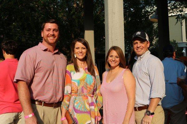 Rob and Melissa Purvis, Sarah and Justin Callaway