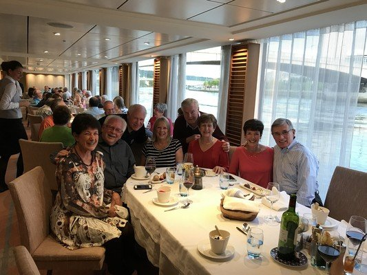 Duane and Carol with their shipmates