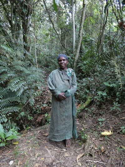 A member of the Batwa pygmy group