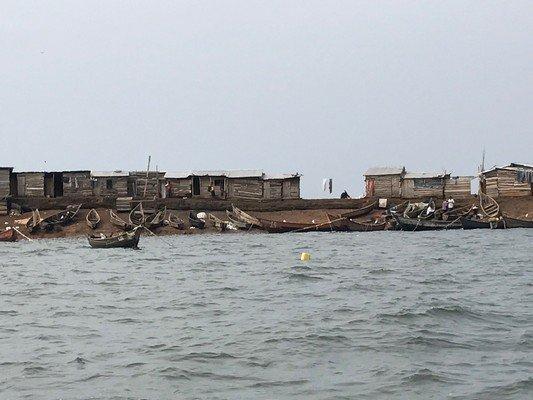 Fishing village lean-tos
