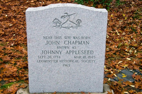 John Chapman Johnny Appleseed grave marker