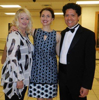 Sherrie Vales, Soprano Maria Valdes, Symphony General Manager Jorge Pena
