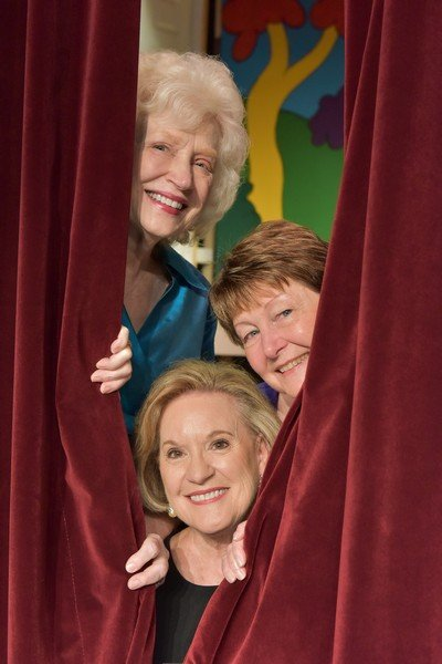 2018 Cabaret Chairs (from top): Alice Barlow, Linda Muir, Sharon Flores invite you to a Broadway-style extravaganza.
